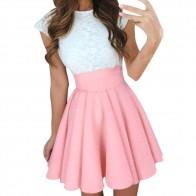 Миди юбки женские летние однотонные с высокой талией простые приталенные юбки женские Вечерние Коктейльные мини юбки Faldas Cortas # YL купить на AliExpress