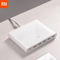 1621.69 руб. 10% СКИДКА|Оригинальный Xiaomi USB C 60 Вт Зарядное устройство выход type C 6 usb портов QC 3,0 Быстрая зарядка 18 Вт x2 + 24 Вт (5 В = 2.4A макс) для смартфонов-in Умный пульт управления from Бытовая электроника on Aliexpress.com | Alibaba Group