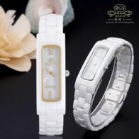 1633.06 руб. 54% СКИДКА|Женский часы кварцевые квадратные белые керамические женские модные наручные часы цвета: золотистый, серебристый водонепроница-in Женские часы from Ручные часы on Aliexpress.com | Alibaba Group