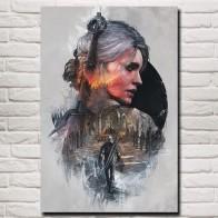 334.62 руб. 18% СКИДКА|FOOCAME The Witcher 3: Дикая Охота Cirilla Fiona Elen Riannon Art Шелковый плакат принты домашний Настенный декор живопись 12x18 24x36 дюймов купить на AliExpress