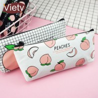 US $1.33 25% OFF|New canvas Fruit Peach pencil case school pencil cases for girl stationery canvas pencil bag estojo escolar school supplies-in Pencil Cases from Office & School Supplies on Aliexpress.com | Alibaba Group