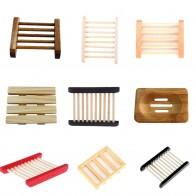 47.03 руб. 16% СКИДКА|9 видов стилей деревянный натуральный бамбуковая мыльница деревянный мыло лоток держатель для хранения мыло стойки плиты Box Контейнер для ванной душ купить на AliExpress