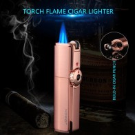 Jobon Triple Torch Lighter 3 Jet Gas Cigar Lighter Turbo Windproof Powerful Metal Spray Gun gas Lighter Accessories  CL017