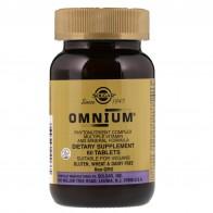 Solgar, Omnium, мультивитаминная и минеральная формула с комплексом фитонутриентов, 60 таблеток