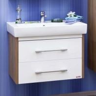Купить Тумба ЛАРГО 2 80 Sanflor белый, вяз швейцарский под раковину Тигода 80 в Ульяновске - Подвесная тумба для ванной