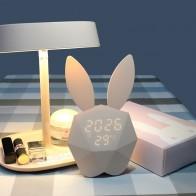 1354.31 руб. 15% СКИДКА|FENGLAIYI милый кролик Цифровой Будильник Зарядка через usb светодио дный LED Звук ночник настольные настенные часы украшения дома термометр лампа-in Ночники from Лампы и освещение on Aliexpress.com | Alibaba Group