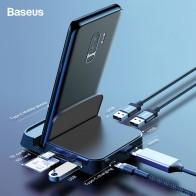 1961.07 руб. 35% СКИДКА|Baseus Тип usb C концентратор usb док станция для samsung S10 S9 Dex площадку паяльная станция USB C к HDMI док станция для Мощность адаптер для huawei P30 P20 Pro on Aliexpress.com | Alibaba Group