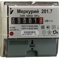 Купить Счетчик электроэнергии однофазный однотарифный INCOTEX Меркурий 201.7 5(60) А по низкой цене с доставкой из маркетплейса Беру