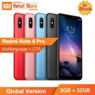 9870.95 руб. |В наличии Глобальный Версия Xiaomi Redmi Note 6 Pro 3 GB 32 GB Snapdragon 636 Octa Core 6,26