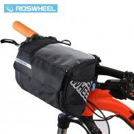 ROSWHEEL 3L Bicycle Handlebar Bag MTB Road Cycling Front bar Pannier Pouch 400D PVC Map Bags Basket Bike Accessories 111271