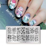 136.02 руб. 5% СКИДКА|BORN PRETTY цветок животные штамповка для ногтей пластина Madanla бабочка прямоугольный шаблон печать трафарет-in Шаблоны для дизайна ногтей from Красота и здоровье on Aliexpress.com | Alibaba Group