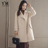 2778.33 руб. 25% СКИДКА|YuooMuoo элегантная двубортная шерстяная куртка для женщин 2019 повседневное зимнее пальто Женская Офисная верхняя одежда шерстяная куртка-in Шерсть и сочетания from Женская одежда on Aliexpress.com | Alibaba Group