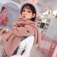 775.8 руб. 5% СКИДКА|Mingjiebihuo Новый Модный женский зимний шарф корейские студенческие дикие вязаные длинные толстые теплые Harajuku стиль небольшой свежий шерстяной воротник-in Женские шарфы from Аксессуары для одежды on Aliexpress.com | Alibaba Group
