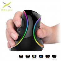 € 15.52 40% de DESCUENTO|Delux M618 más ergonomía vertical ratón con cable 6 Botones 4000 dpi óptico inalámbrico RGB mano derecha Ratones para PC portátil-in Ratones from Ordenadores y oficina on Aliexpress.com | Alibaba Group
