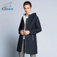 2758.18 руб. 52% СКИДКА|ICEbear 2018  весенняя  женская ветровка  с капюшоном Мода Женщины Мягкая куртка до колена  17G292D-in Парки from Женская одежда on Aliexpress.com | Alibaba Group