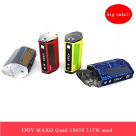 US $16.99 |Clearance Original 315W Vape Mod IJOY MAXO QUAD 18650 TC BOX MOD Electronic Cigarette 5 Modes Firmware Upgradable Vape Box Mod-in Electronic Cigarette Mods from Consumer Electronics on Aliexpress.com | Alibaba Group