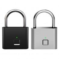 Candado de seguridad sin llave para huellas dactilares USB recargable de aleación de zinc antirrobo candado de seguridad inteligente candado de equipaje portátil nuevo on AliExpress