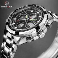US $19.99 90% OFF|GOLDENHOUR Luxury Brand Waterproof Military Sport Watches Men Silver Steel Digital Quartz Analog Watch Clock Relogios Masculinos-in Quartz Watches from Watches on Aliexpress.com | Alibaba Group