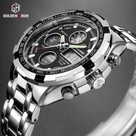 US $19.99 90% OFF|GOLDENHOUR Luxury Brand Waterproof Military Sport Watches Men Silver Steel Digital Quartz Analog Watch Clock Relogios Masculinos-in Quartz Watches from Watches on Aliexpress.com | Alibaba Group
