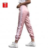 587.87 руб. 50% СКИДКА|2018 весна лето женские атласные брюки для отдыха повседневные разноцветные ретро белые полосатые боковые закрытые удобные спортивные брюки женские-in Штаны и капри from Женская одежда on Aliexpress.com | Alibaba Group