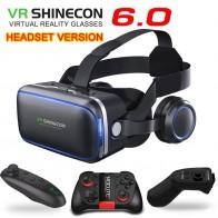 1021.11 руб. 29% СКИДКА|Оригинальный VR shinecon 6.0 гарнитура Версия Очки виртуальной реальности 3D очки гарнитура шлемы смартфон полный пакет + контроллер-in 3D очки, очки виртуальной реальности from Бытовая электроника on Aliexpress.com | Alibaba Group