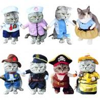 251.85 руб. 33% СКИДКА|Забавная одежда с котом пиратский костюм, одежда для кошки, костюм корсаира, одежда на Хэллоуин, нарядный костюм с котом 31A1-in Одежда для кошек from Дом и сад on Aliexpress.com | Alibaba Group