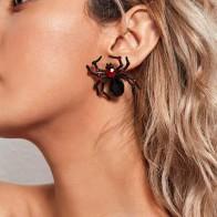 Хэллоуин серьги-гвоздики в форме паука - Аксессуары на Хэллоуин