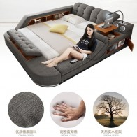 US $854.05 5% OFF|Europe and America fabric cloth bed massage Modern Soft Beds Home Bedroom Furniture cama muebles de dormitorio / camas quarto-in Beds from Furniture on Aliexpress.com | Alibaba Group