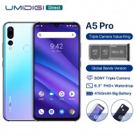 9800.55 руб. |UMIDIGI A5 PRO глобальная версия Android 9,0 Octa Core 4 ГБ 32 ГБ 6,3