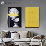 165.71 руб. 35% СКИДКА|Пост современная Фигурка Статуи, креативная Картина на холсте, модный плакат, печать, Настенная картина для гостиной, прохода, Современный домашний декор-in Рисование и каллиграфия from Дом и животные on Aliexpress.com | Alibaba Group