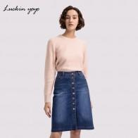 2222.77 руб. |Lukin yoyo Экстра плюс размер 42 9XL женские джинсовые юбки Повседневная Джинсовая юбка на пуговицах Большие размеры Feminino Женская одежда-in Юбки from Женская одежда on Aliexpress.com | Alibaba Group