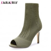 US $40.48 49% OFF|SARAIRIS Brand New Fashion Peep Toe Thin High Heels 8.5cm Shoes Woman Casual Party Office Sexy Spring Autumn Ankle Boots-in Ankle Boots from Shoes on Aliexpress.com | Alibaba Group