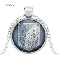 US $0.52 52% OFF|Attack on Titan Levi Ackerman Glass Cabochon Pendant Necklace   Jewelry Charm necklace-in Pendant Necklaces from Jewelry & Accessories on Aliexpress.com | Alibaba Group