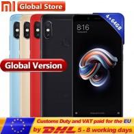 11773.83 руб. |Первоначально Глобальный Версия Xiaomi Redmi Note 5 4 ГБ 64 ГБ телефон Snapdragon S636 Octa Core 4000 мАч 5,99