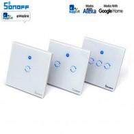 € 11.72 10% de réduction|Commutateur intelligent Sonoff T1 1 3Gang EU UK WiFi & RF 86 Type commutateur intelligent de lumière tactile murale Module domotique intelligent télécommande-in Home Automation Modules from Electronique on Aliexpress.com | Alibaba Group