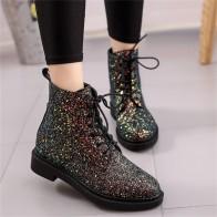 971.05 руб. 25% СКИДКА|COOTELILI/Дизайнерские Брендовые женские ботильоны; женская обувь на каблуке; женские осенние блестящие ботинки на шнуровке; повседневная обувь; цвет розовый, черный, белый-in Ботильоны from Туфли on Aliexpress.com | Alibaba Group