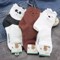 US $2.35 50% OFF|Cartoon bear panda animal print socks happy cute funny women sock autumn winter comfortable sweat absorbent cotton We Bare Bear-in Socks from Underwear & Sleepwears on AliExpress - 11.11_Double 11_Singles