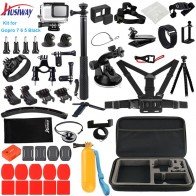 Husiway Accessories Set for Gopro hero 8 7 6 5 Black Gopro8 Hero8 Waterproof Housing Silicone Case Screen Lens Protector 57A