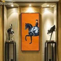 533.4 руб. 40% СКИДКА|Классический Современный оранжевый конский гоночный холст печать картина плакат классное настенное искусство картины для прихожей большой размер домашний декор-in Рисование и каллиграфия from Дом и животные on Aliexpress.com | Alibaba Group