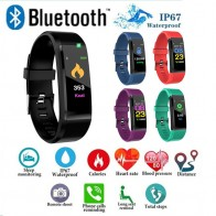 US $6.99 48% OFF|ID115 PLUS Color Screen Smart Bracelet Sports Pedometer Watch Fitness Running Walking Tracker Heart Rate Pedometer Smart Band-in Pedometers from Sports & Entertainment on Aliexpress.com | Alibaba Group