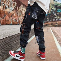 US $11.45 30% OFF|Hip hop Pants Men Loose Joggers Print Streetwear Harem Pants Clothes Ankle length Trousers-in Harem Pants from Men
