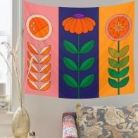 Гобелен с солнечным цветком, настенный Ретро гобелен с цветком, домашний декор, тканевый фон для спальни, настенное покрытие, гобелены, Деко... - Гобелены с Алиэкспресс