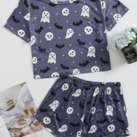 Halloween Print PJ Set - For women