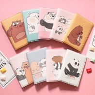 US $3.6 20% OFF|Cartoon We are Bears Passport Holder Men Leather Business Card cover Women Credit Card holder Travel Passport Cover-in Card & ID Holders from Luggage & Bags on AliExpress - 11.11_Double 11_Singles