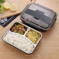 Портативная коробка из нержавеющей стали Bento для кухни, герметичный Ланч-бокс для пикника, офиса, школы, утепленный клетчатый контейнер для ... - time for lunch