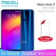 10852.21 руб. 29% СКИДКА|Официальный Meizu Note 9 Note9 4 Гб ОЗУ 64 Гб ПЗУ глобальная версия сотового телефона Snapdragon 675 Восьмиядерный 6,2