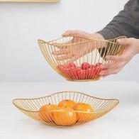 Металлическая корзина для хранения фруктов и овощей в скандинавском стиле, больше стильных украшений для обеденного стола дисплей миска - Корзины для фруктов