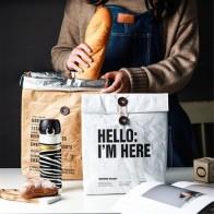 Шикарная Водонепроницаемая изоляционная сумка для хранения из крафт-бумаги скандинавский мешок для фруктов для овощей алюминиевая пленка ... - time for lunch