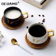 Роскошные скандинавские мраморные керамические кофейные чашки, сгущенные кофейные кружки, кофейные чайные чашки для завтрака, молочные ча...