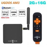 4695.04 руб. 25% СКИДКА|UGOOS AM3 Amlogic S912 Octa Ядро Смарт Android 7,1 ТВ контейнер под элемент питания 2 Гб Оперативная память 16 Гб Встроенная память 2,4G/5G WiFi 1000 M LAN Bluetooth 4 K HD медиа плеер-in ТВ-приставки from Бытовая электроника on Aliexpress.com | Alibaba Group